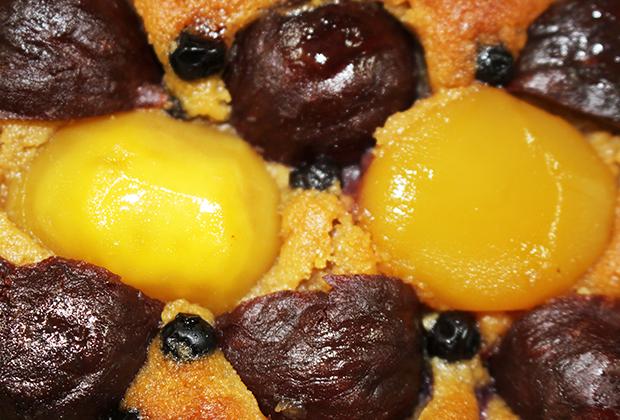 この上品な甘さは、栗とさつま芋、ブルーベリーのコラボレーションだったんですね!