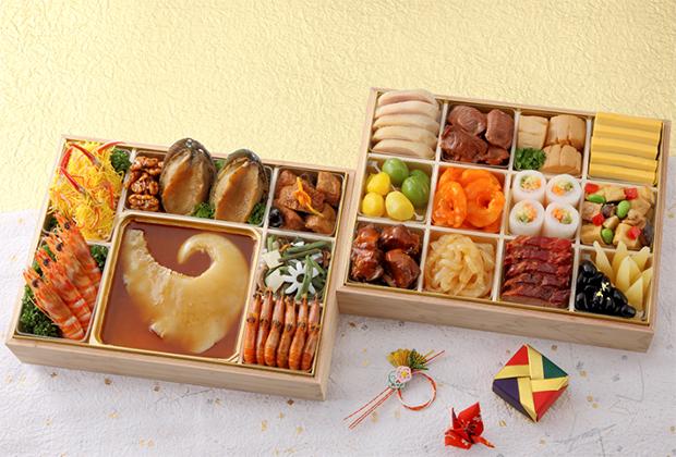 お店でも人気のフカヒレ姿煮を初めとした高級中華のおせち。
