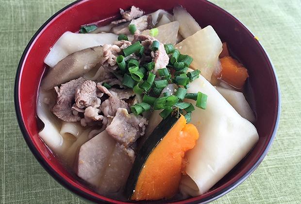 鬼ひも川アレンジレシピ【おっきりこみ風】