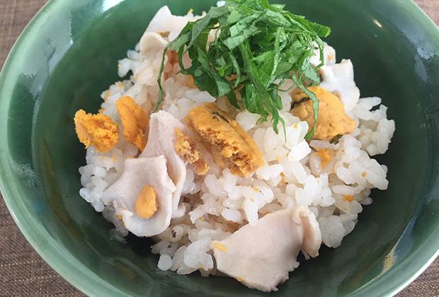 アレンジレシピ【いちご煮の炊き込みご飯】