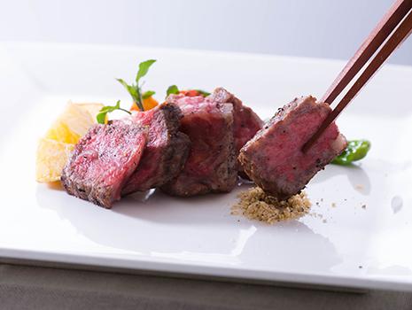 ステーキには、「黒こしょう」を添えて