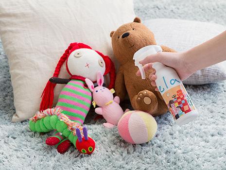 なかなか洗えないお子さまのおもちゃの除菌にもおすすめ。