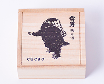 小町通りの石畳「雪男」/cacao