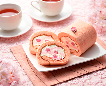 桜の雫ロールケーキ / 吉祥菓寮