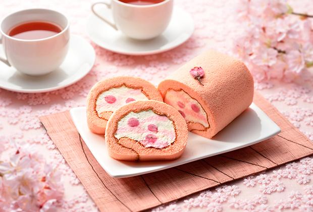 桜葉入りの桜餡がアクセント