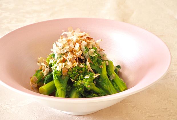 「醤油糀」を活用したレシピ『菜の花のお浸し』