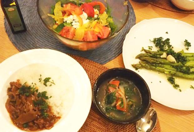 我が家のある日の夕食