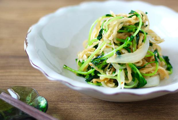 「にんにく塩糀」を活用したレシピ『豆苗と切干大根のナムル』