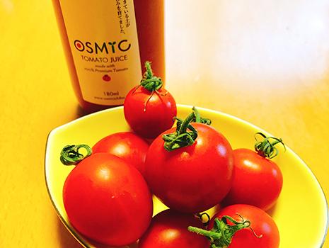 糖度10の「オスミックトマト」をサービスで