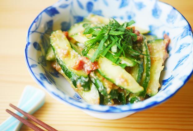 「甘糀」を活用したレシピ『きゅうりの梅味噌和え』