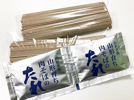 乾麺3袋と冷水で希釈するそばつゆがセットで届きます