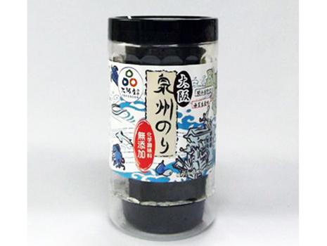 「泉州のり(無添加味付海苔)」は、昔ながらの原材料を使い、化学調味料不使用の自然なあっさりとした味わい