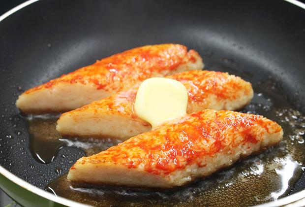 1本40gと身が引き締まった食べごたえのあるボリュームなのでバターソテーといった焼きガニ風にするのもおすすめです