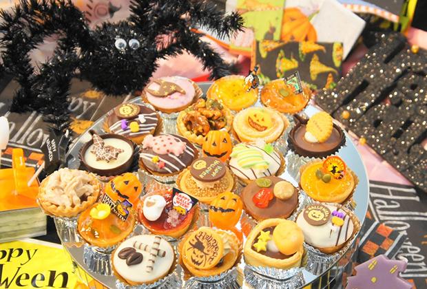 見た目がかわいい、ハロウィン仕様のタルト菓子