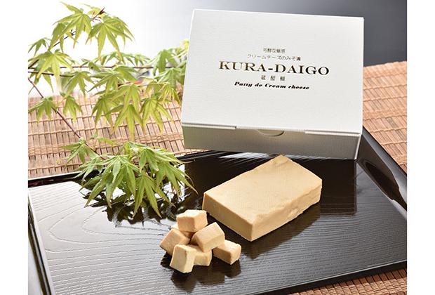 蔵醍醐(くらだいご)クリームチーズのみそ漬は、(株)菅野漬物の直売所である「みそ漬処 香の蔵(こうのくら)」で2011年12月から発売された商品