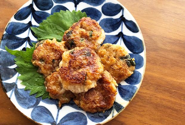 「3年熟成 福みりん」を活用したレシピ『蓮根と長芋のつくね』