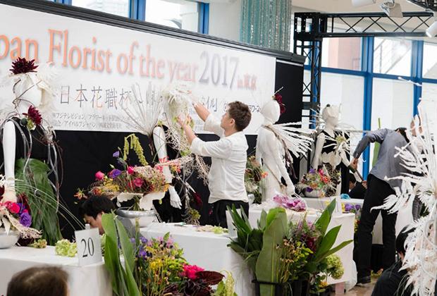2017年第10回日本花職杯・ファイナルの様子