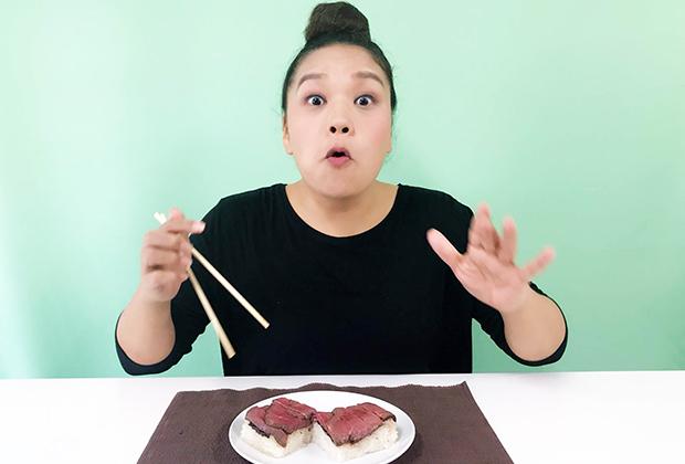 ローストビーフとお寿司の融合。今回はお取り寄せの進化に驚きました!