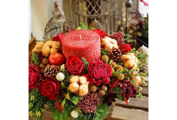 予選では、「クリスマスに贈りたいお花」コンテストも開催