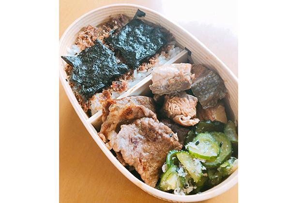 「海苔のりべん」にリスペクトで模試の息子のお弁当は二段のり弁当に