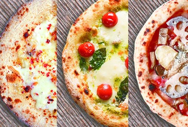 金沢の地元食材がふんだんに使われたピザ3枚セット