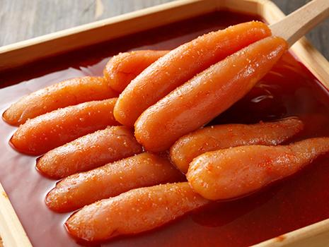 色味だけではなく、味わいも素材の持ち味を最大限に生かしているのが当社の辛子明太子の特徴です