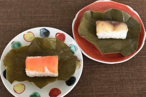 奈良県「奈良まほろば館」で見つけた「神鹿物語(アーモンドミルク白鹿最中)」 「柿けーき」「柿の葉すし」「奈良漬」