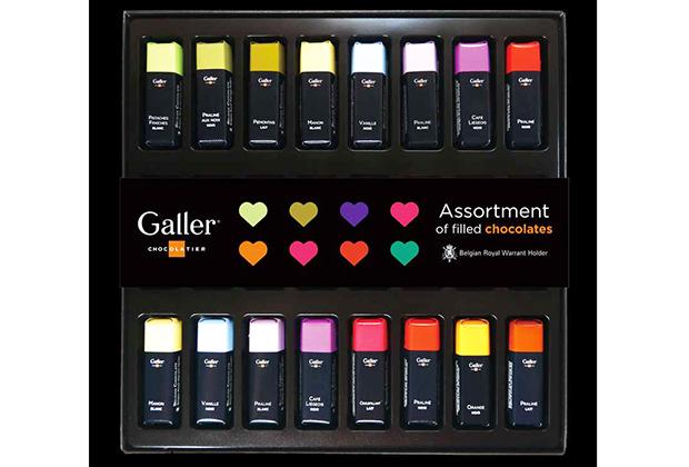 Galler(ガレー)の特長は、シンプルな黒い箱の中に、まるでコスメのように並べられた全11種のフレーバー