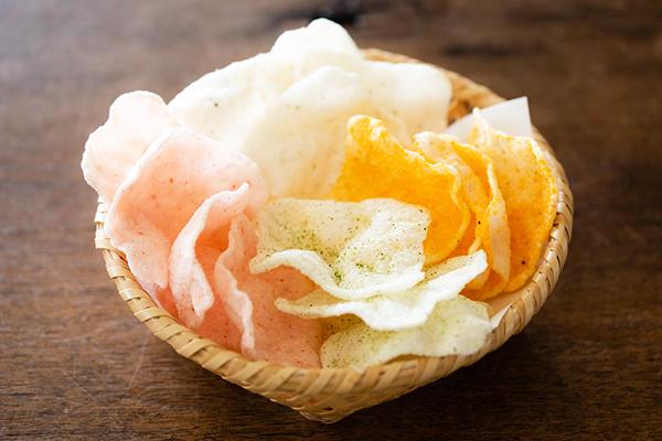 新潟県長岡市 瑞花の『うす揚』と神田有希子さんのカゴ