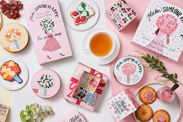 ホワイトデーや春のギフトにもぴったり!  <春限定パッケージ>Afternoon Teaより桜やいちごを楽しむ「Sweets & Tea Gift」新発売!