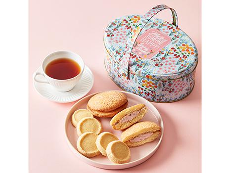 春限定のお茶とお菓子を詰め合わせた「スプリングバスケット」