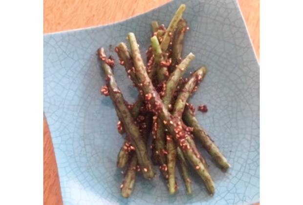 「無添加豆味噌 無為自然」を活用したレシピ『さやいんげんの豆味噌和え』