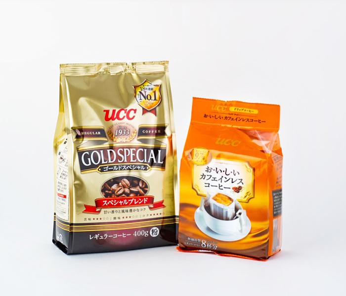 『ゴールドスペシャル スペシャルブレンド 400g』『おいしいカフェインレスコーヒー ドリップコーヒー 8P』/ UCC上島珈琲株式会社