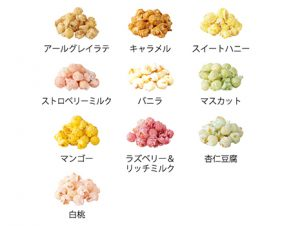 アールグレイラテ、キャラメル、スイートハニー、ストロベリーミルク、バニラ、マスカット、マンゴー、ラズベリー&リッチミルク、杏仁豆腐、白桃とバラエティ豊かなフレーバーが取り揃えられています。