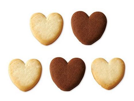 中には、ハート形のクッキーが5枚。