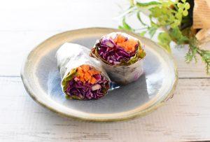 「鮒寿司」を活用したレシピ『鮒寿司クリームの生春巻き』