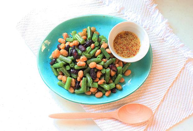 「延命酢」を活用したレシピ『いんげん豆とミックスビーンズのホットサラダ』