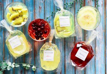 夏の贈り物にぴったり!  シロップ漬けではない国産の生フルーツがそのまま入った「国産生フルーツゼリー」がベジターレから新発売