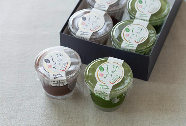 今回お取り寄せした「冷やししるこ」は季節限定。小豆と抹茶の2種類があります。