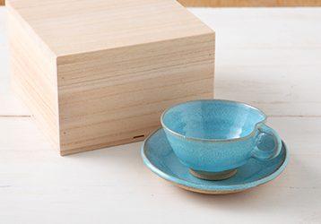 こだわりの有田焼コーヒーカップ(ブルー) / 有田焼専門ネットショップ 徳商会