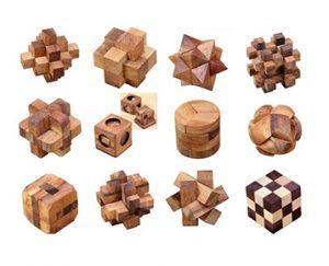 ウッドパズル12個セット / ロックスモーション