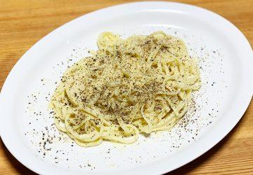 共栄食糧の「オリーブパスタ」de「カチョエペペ」
