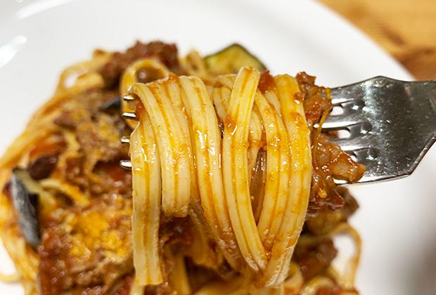 このパスタ、マジでモチモチ&麺によく絡む!